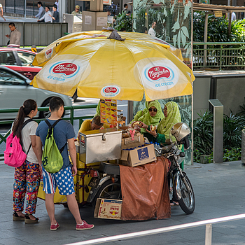 An ice cream vendor