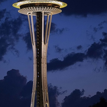 Space Needle | NIKON 200MM F/2.0G ED-IF AF-S VR <br> Click image for more details, Click <b>X</b> on top right of image to close