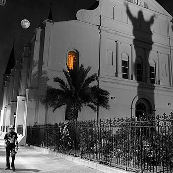 ST. LOUIS CATHEDRAL & PERE ANTOINE ALLEY, New Orleans | NIKON 28MM F/1.4D AF ASPHERICAL <br> Click image for more details, Click <b>X</b> on top right of image to close
