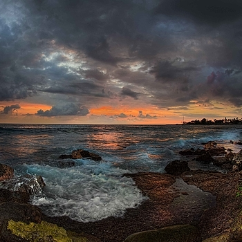 Sunset. Kona Hawaii | LENS MODEL NOT SET <br> Click image for more details, Click <b>X</b> on top right of image to close