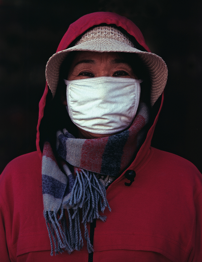 nikonimages.com gallery | Portrait with surgical mask | Nikon 105mm F2.5 | S3 MILLENIUM 2000  EDITIO
