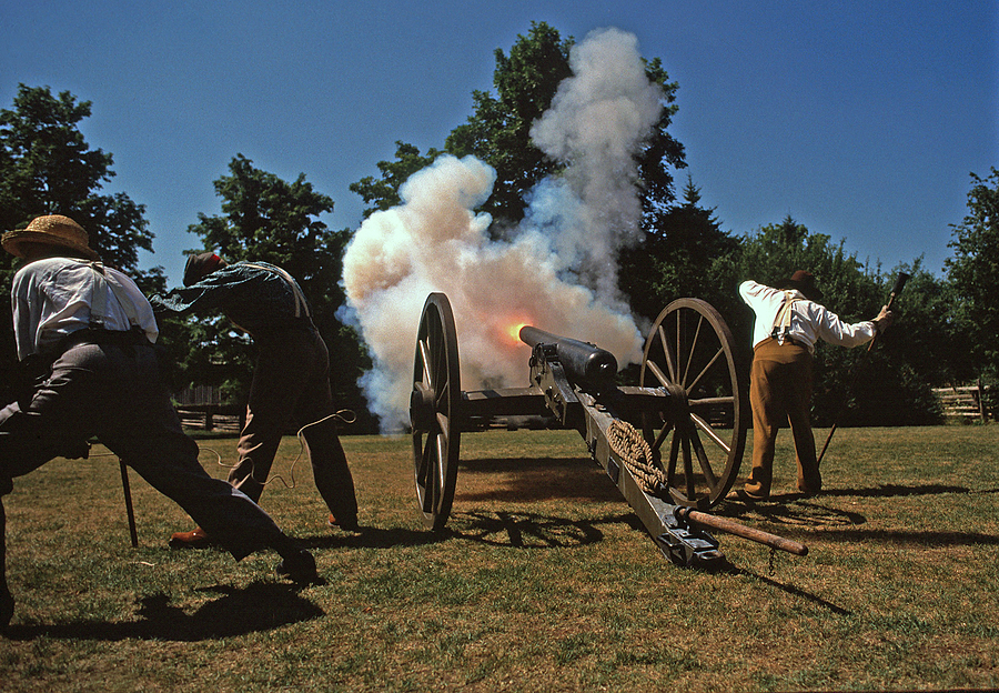 Firing the cannon | NIKON 24MM F/2.8 <br> Click image for more details, Click <b>X</b> on top right of image to close