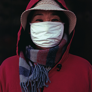 Portrait with surgical mask