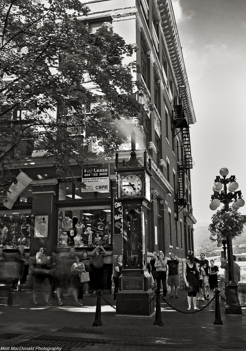 Gastown Steam Clock | NIKON 24-70MM F/2.8G ED AF-S N <br> Click image for more details, Click <b>X</b> on top right of image to close