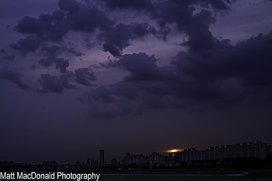 As the Sky Turns Violet Over the Han River | NIKON 50MM F/1.8 AF <br> Click image for more details, Click <b>X</b> on top right of image to close