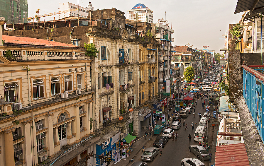 Merchant Street East Central Yangon | NIKON 24-70MM F/2.8G ED AF-S N <br> Click image for more details, Click <b>X</b> on top right of image to close