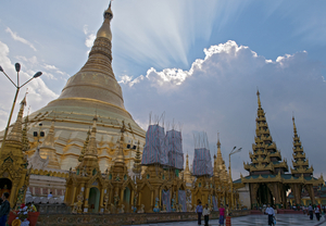 Light Pinwheels Over Shwedagon