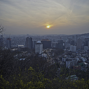 Namsan Northwest View | NIKON 24MM F/2.8D AF <br> Click image for more details, Click <b>X</b> on top right of image to close