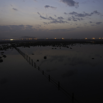 Flooded Marine Salt Field Reservoir | NIKON 18-35MM F/3.5-4.5D ED-IF AF <br> Click image for more details, Click <b>X</b> on top right of image to close