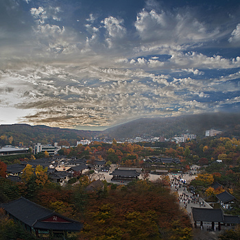 Namsangol Hanok Village in Autumn | NIKON 20MM F/2.8 <br> Click image for more details, Click <b>X</b> on top right of image to close