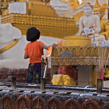 Myanmar Child Lighting Incense | NIKON 24-70MM F/2.8G ED AF-S N